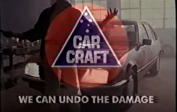 90's Car Craft Reverse Smash Repair TV Ad