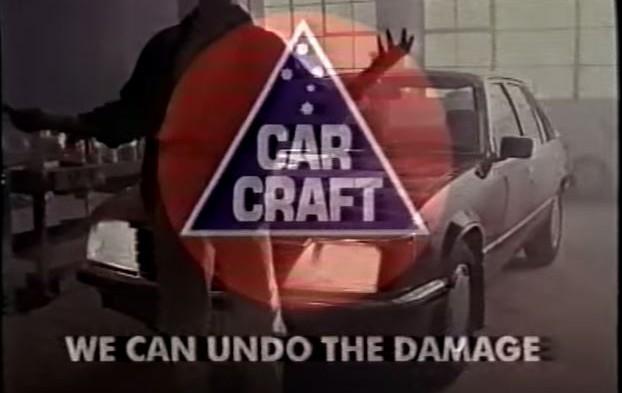 90's Car Craft Reverse Smash Repair TV Ad