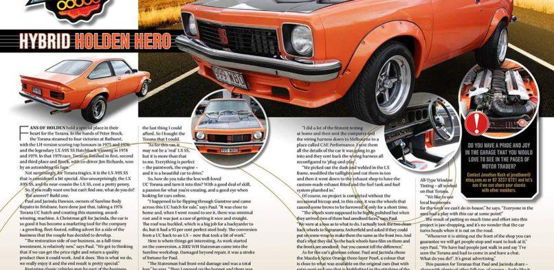 Hybrid Holden Restoration